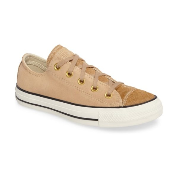 Converse chuck taylor all star ox genuine calf hair sneaker in light fawn - Genuine calf hair adds unexpected texture to a...