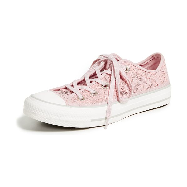 Converse chuck taylor all star ox sneakers in pink