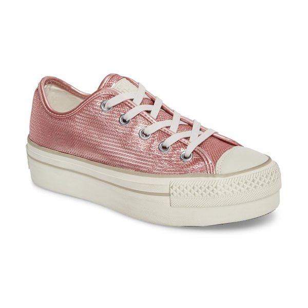Converse chuck taylor all star platform sneaker in pink nectar - A super-chunky stacked-platform bumper sole refreshes...