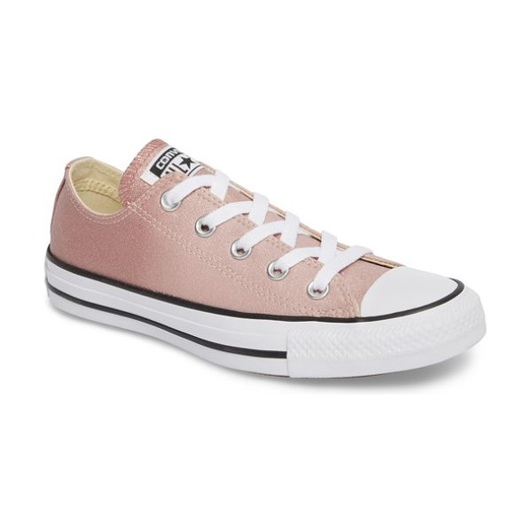 Converse chuck taylor all star seasonal metallic ox low top sneaker in particle beige - A classic canvas sneaker updated in eye-catching...