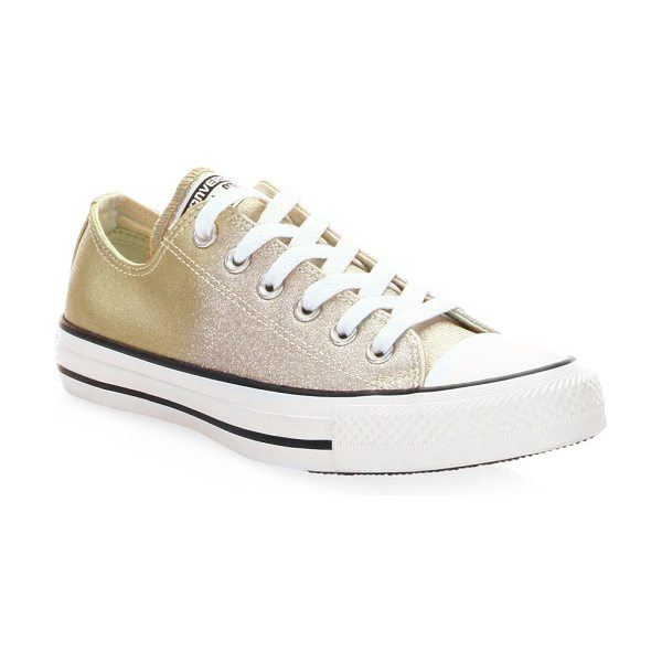 CONVERSE chuck taylor all star sneakers - Canvas lace-up sneakers in metallic finish. Cotton...