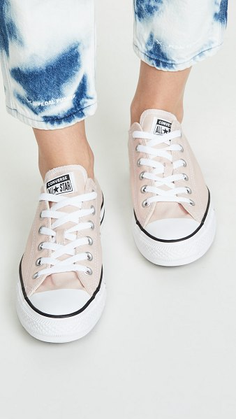 Converse chuck taylor all star sneakers in particle beige - Fabric: Canvas Low tops Lace-up at front Rubber sole...