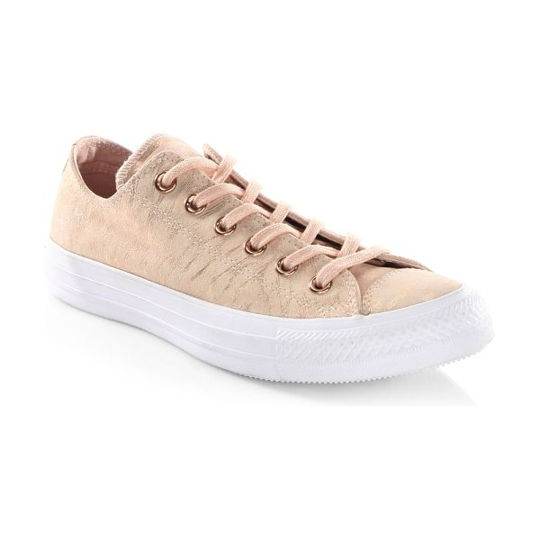 Converse ctas ox suede sneakers in dusk pink - Soft suede with metallic luster revamps classic style....