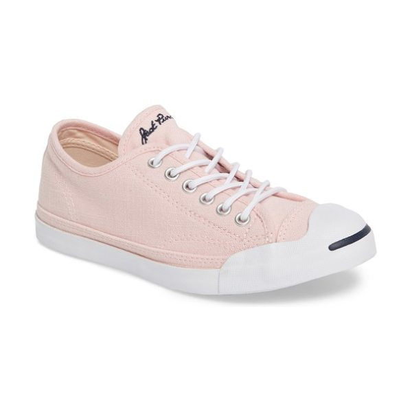 Converse jack purcell low top sneaker in vapor pink - A classic sneaker features a look that goes back to a...