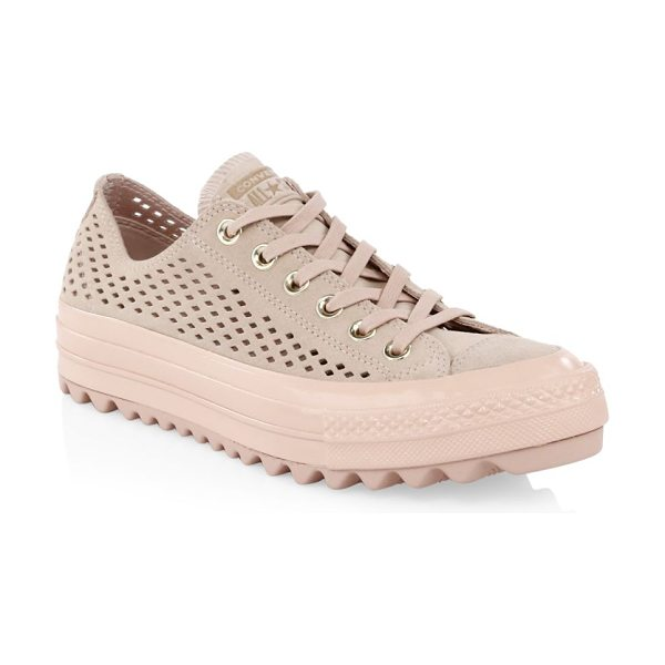 c3696cb0d5c5 Converse lift ripple ox perforated sneakers in pink - Chunky lug sole  updates classic All Star