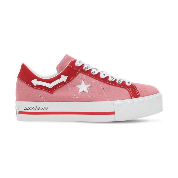 33052f0f3dad03 CONVERSE X MADEME Mademe one star platform sneakers in pink red - Created  in collaboration