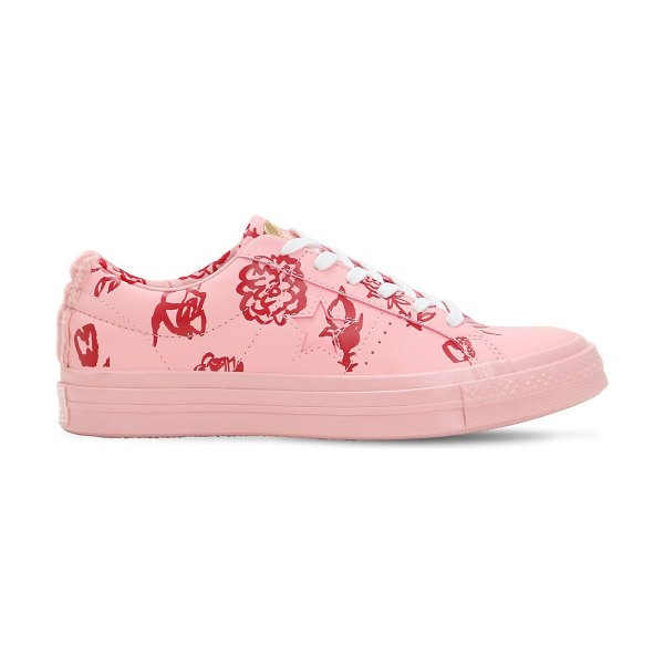 CONVERSE X SHRIMPS Shrimps one star suede sneakers in pink