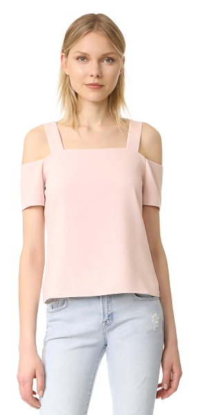 Cooper & Ella ava cold shoulder top in pale pink - A sophisticated Cooper & Ella blouse styled with cutouts...