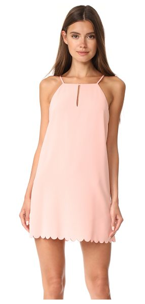 Cooper & Ella elena scallop dress in salmon - This simple Cooper & Ella shift dress is detailed at the...