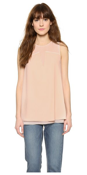 Cooper & Ella Keira ladder stitch shell top in nude - A flowing Cooper & Ella shell top with an opaque...