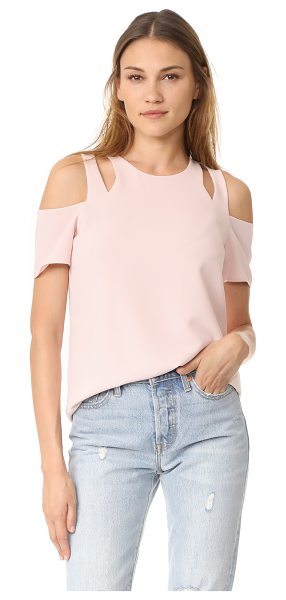 Cooper & Ella padma cold shoulder top in pale pink - An elegant Cooper & Ella top, detailed with angular...