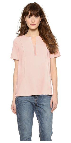 Cooper & Ella Sadie panel tee in nude - Paneled construction with overlapping seams creates a...