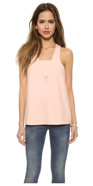 Cooper & Ella Sydney bandeau tank in nude - Overlapping elements create the illusion of layering on...