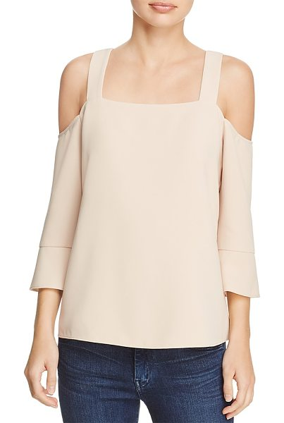 Cooper & Ella Tilde Cold-Shoulder Top in sand - Cooper & Ella Tilde Cold-Shoulder Top-Women