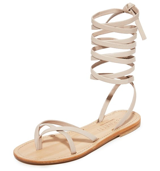 CORNETTI aiano wrap sandals in rose quartz/natural - Slim leather straps compose these refined Cornetti...