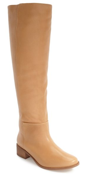 CORSO COMO garrison knee high boot in nude leather - A stacked block heel enhances the casual sophistication...