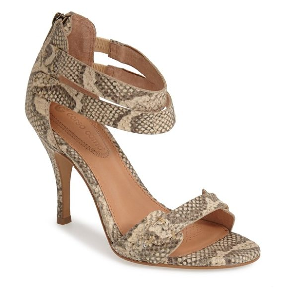 Corso Como turks ankle strap sandal in natural vintage snake - Dual ankle straps intensify the modern sophistication of...