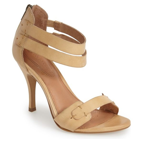Corso Como turks ankle strap sandal in nude vintage nubuck - Dual ankle straps intensify the modern sophistication of...