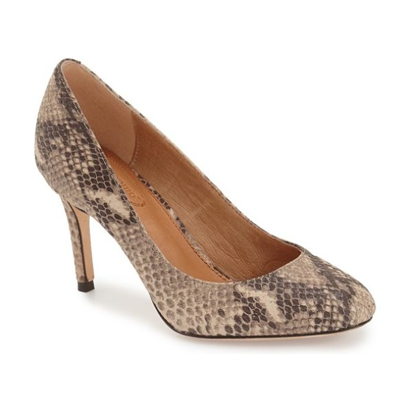 Corso Como webster suede pump in taupe multi snake - A supple leather lining and gel-cushioned footbed lend...