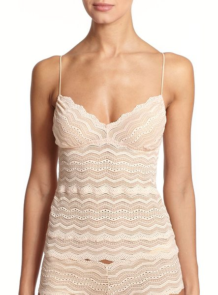 COSABELLA Ceylon lace camisole - The classic stretch lace camisole is updated in a longer...