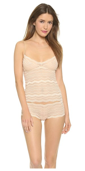 Cosabella Ceylon long camisole in sand - This scoop neck, stretch lace camisole features a built...