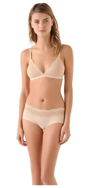 COSABELLA dolce soft bra - This stretch-lace bra features scalloped lace trim at...
