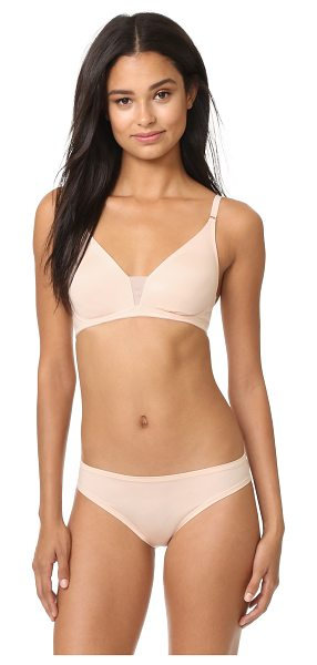 Cosabella evolution soft bra in nude - A soft double-layered Cosabella bralette with a sheer...