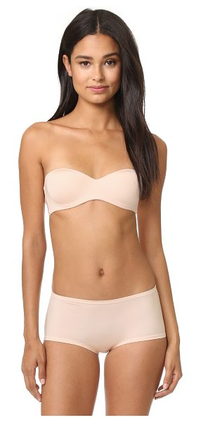Cosabella evolution strapless marni bralette in nude - A smooth Cosabella balconette bra with molded underwire...