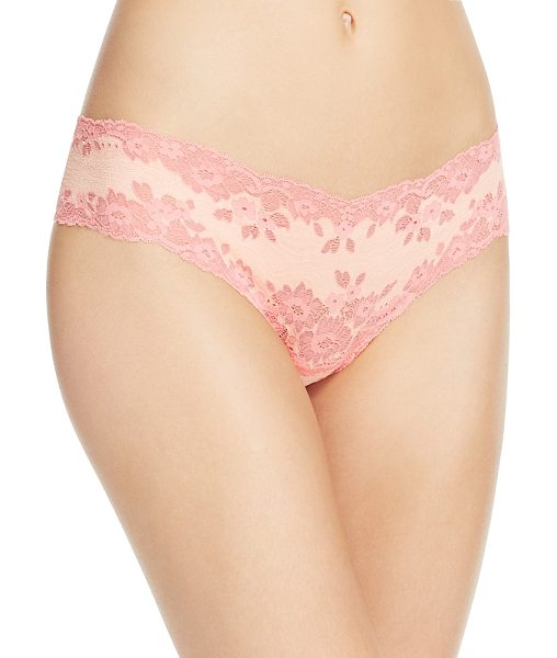 Cosabella Italia Low-Rise Thong in geranium pink/rose