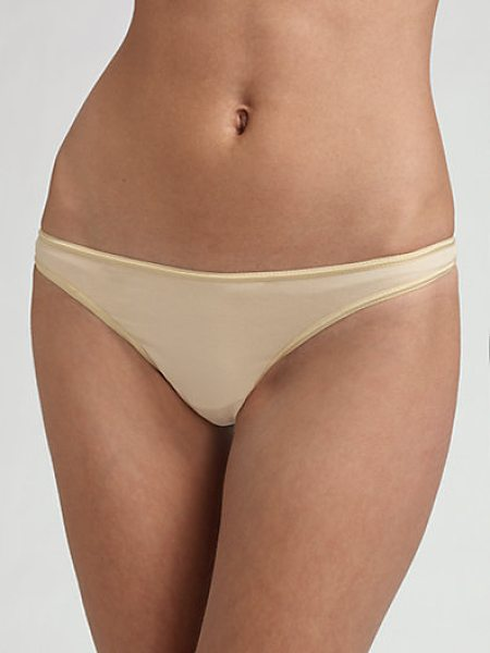 Cosabella talco low-rise thong in sand - Superb smoothness under anything, in soft viscose....