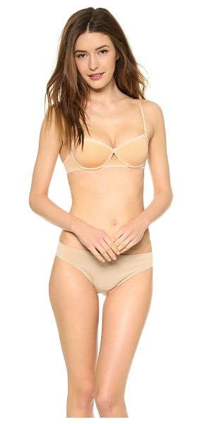 Cosabella Marlene balconette bra in nude - This underwire bra features molded demi cups and lace...