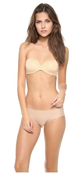 Cosabella marni strapless bra in nude - This jersey underwire bra features lightly molded cups....