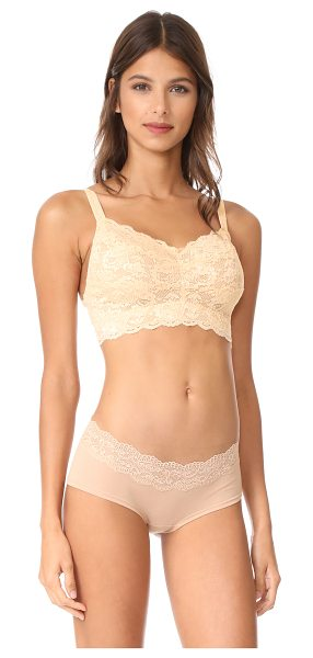 Cosabella never say never curvy sweetie bra in blush - A signature lace Cosabella bralette, cut to fit larger...