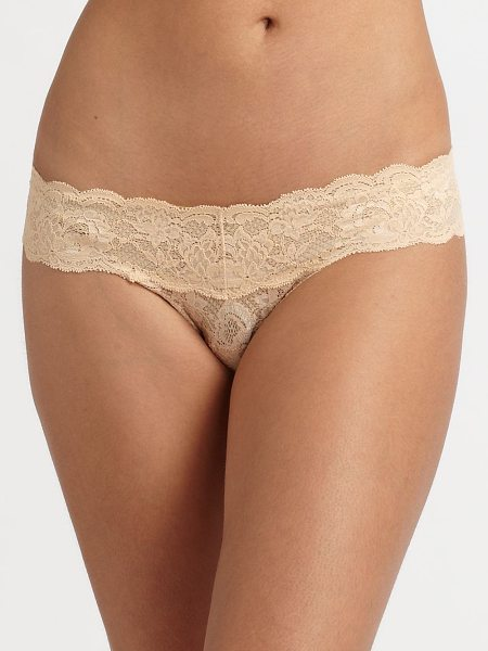 Cosabella never say never cutie low-rise thong in blush