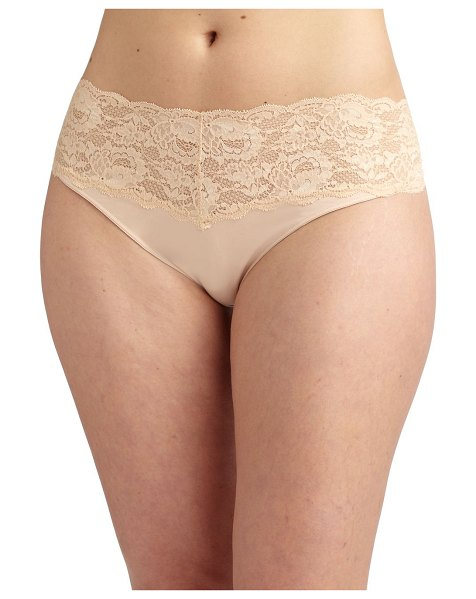 Cosabella never say never extended size thong in blush