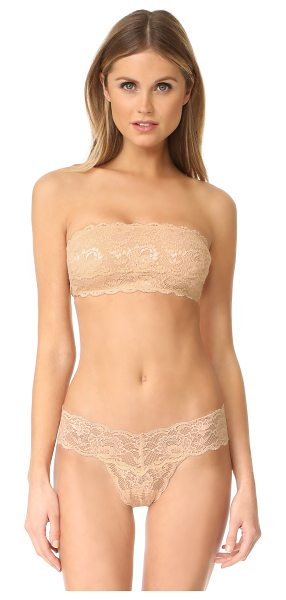 Cosabella never say never flirty bandeau bra in almond