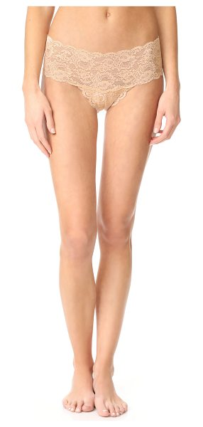 Cosabella never say never hottie boy shorts in almond - These stretch-lace boy shorts have scalloped edges....