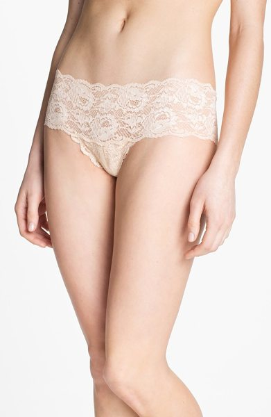 Cosabella 'never say never' hipster briefs in blush - Soft, scalloped lace styles low-rise briefs.