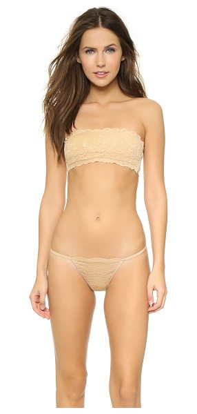 Cosabella never say never padded flirtie bandeau bra in blush