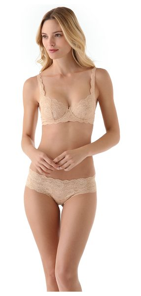 Cosabella never say never prettie bra in blush - This stretch-lace underwire bra features scalloped edges...