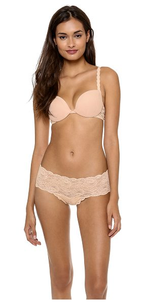 Cosabella Never say never push up bra in blush - Molded, padded cups lend sexy lift to this stretch mesh...