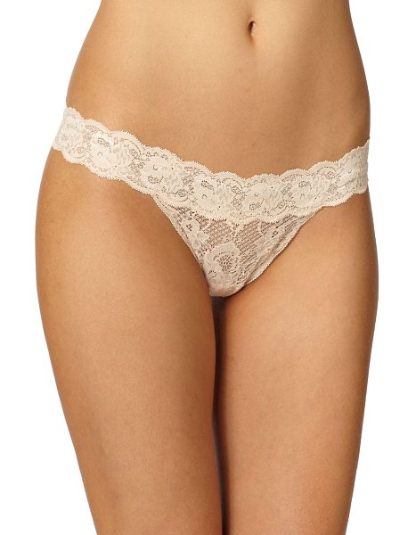 Cosabella Never say never relaxed lace thong in blush