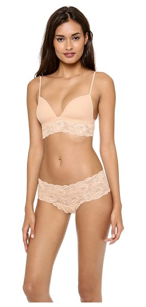 0e7787485e9d2 Cosabella never say never soft padded bra in blush - Padded cups lend soft  structure to