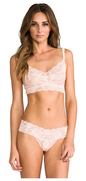 Cosabella Never say never sweetie bra in blush - 78% polyamide 12% elastane 10% viscose. Hand wash cold....