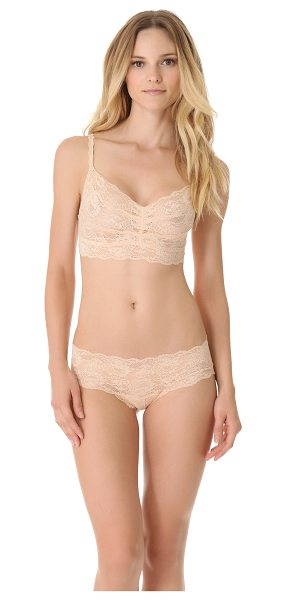 Cosabella never say never sweetie soft bra in blush - A soft, sheer lace bralette from Cosabella is both...