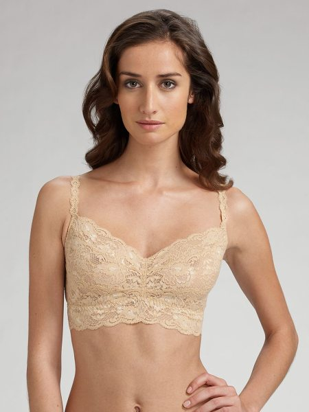Cosabella lace bralette in blush - Gently scalloped in delicate lace with a comfortable,...