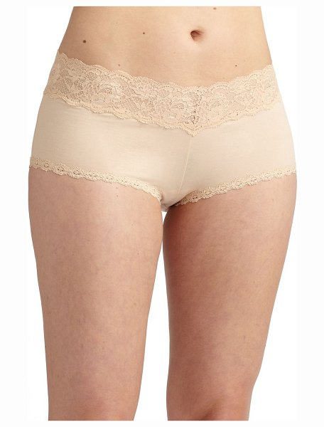 Cosabella never say never ultra-stretch boyshorts in blush