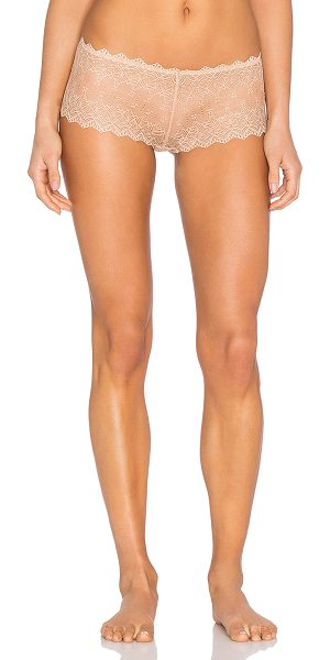 Cosabella Papyrus low rise hotpant in beige - 86% polyamide 12% elastane 2% cotton. Hand wash cold....
