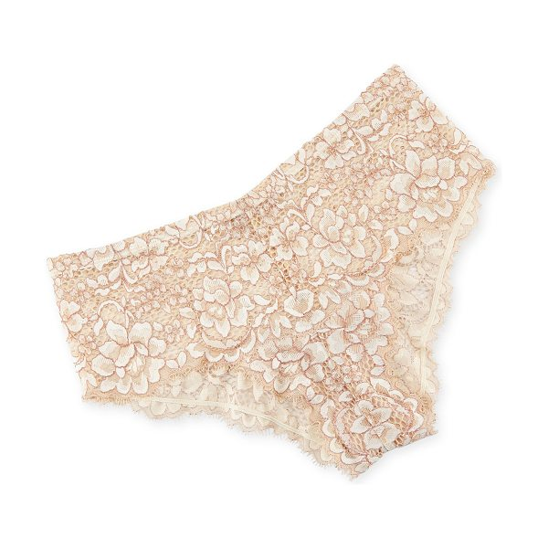 "Cosabella Pret a Porter Lace Boyshorts in white/brown - Cosabella ""Pret a Porter"" boyshorts. Medium rise sits at..."