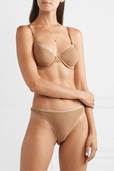 Cosabella soiré confidence mesh thong in sand